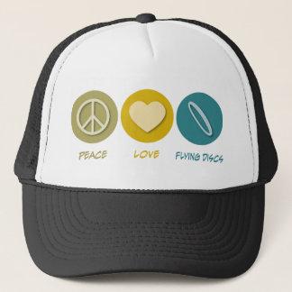 Boné Discos de vôo do amor da paz