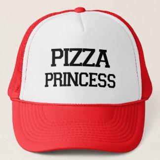 Boné Dizer engraçado do foodie da princesa da pizza