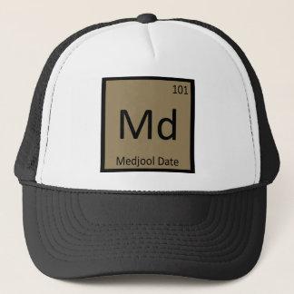 Boné DM - Símbolo da mesa periódica da química da data
