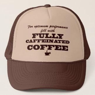 Boné do amante do café