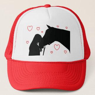 Boné do amor do cavalo