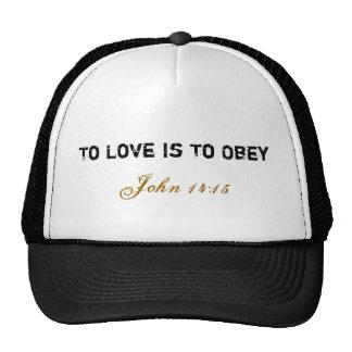 Boné do amor/obediência