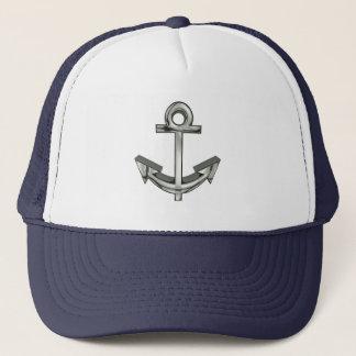 Boné Do camionista de prata náutico do marinho da