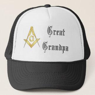 """Boné Do """"chapéu do camionista do símbolo maçónico"""