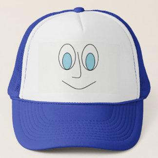 Boné Do homem Eyed azul do smiley do divertimento