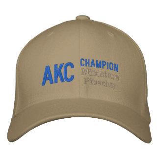 Boné do Pinscher diminuto do campeão de AKC