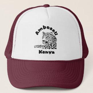 Boné do safari do leopardo de Amboseli Kenya