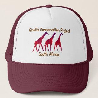 Boné do safari do projeto da conservação do girafa