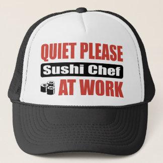Boné Do silêncio cozinheiro chefe de sushi por favor no