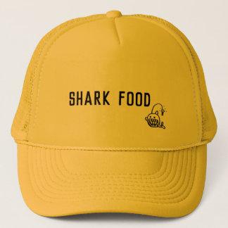 Boné do surfista do preto da comida do tubarão
