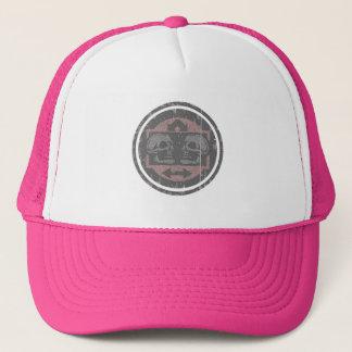Boné Dois crânios - rosa desvanecido - logotipo