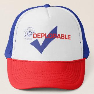 Boné Donald Trump registrou o chapéu deplorável de