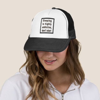 Boné Dormir é… chapéu altamente aditivo