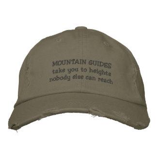 boné dos guias da montanha