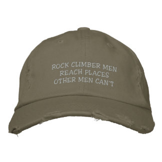 boné dos homens do montanhista de rocha