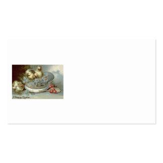 Boné dos miosótis do pintinho da páscoa cartão de visita