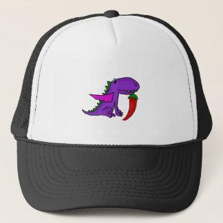 Boné Dragão roxo engraçado que come desenhos animados
