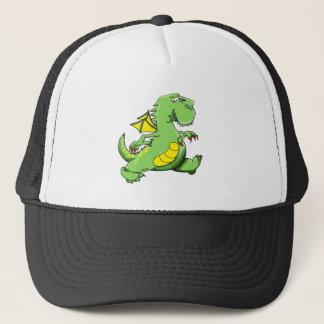 Boné Dragão verde dos desenhos animados que anda em