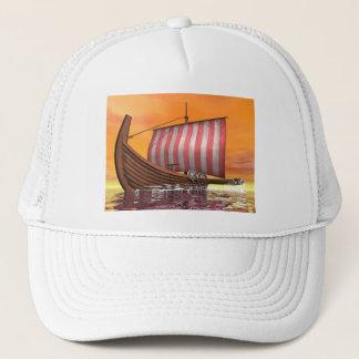 Boné Drakkar ou navio de viquingue - 3D rendem