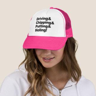 Boné Driving&Chipping&Putting&Holing (preto)