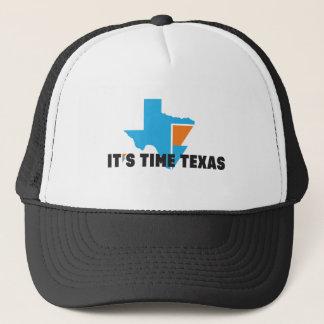 Boné É chapéu do camionista de TEXAS do TEMPO