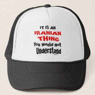 BONÉ É DESIGN IRANIANO DA COISA
