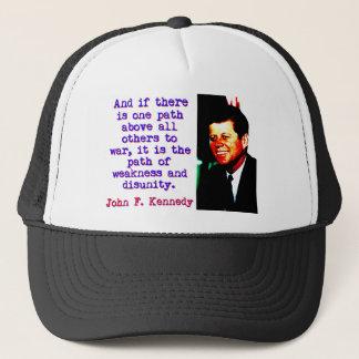 Boné E se há um trajeto - John Kennedy