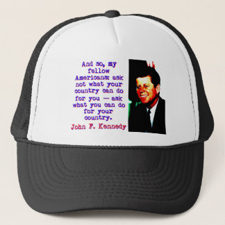 Boné E tão compatriotas - John Kennedy