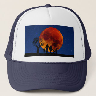Boné Eclipse lunar da lua do sangue