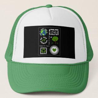 Boné Eco amigável vai terra verde do planeta do amor