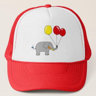 Boné Elefante bonito com balões do partido