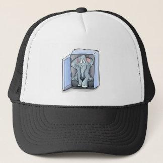 Boné Elefante dos desenhos animados que senta-se dentro