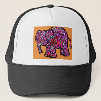 Boné elefante funky vívido dos grafites