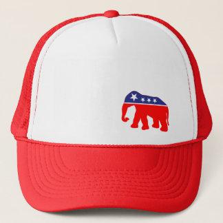 Boné Elefante vermelho, branco & azul