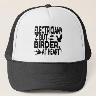 Boné Eletricista do amante do pássaro