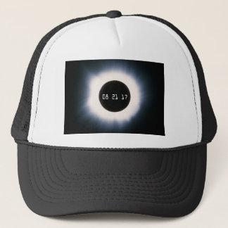 Boné Em agosto de 2017 eclipse solar total em preto e