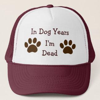 Boné Em anos do cão, eu sou chapéu inoperante