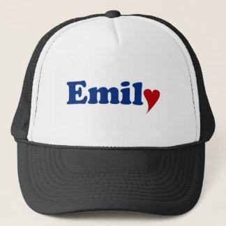 Boné Emily com coração e amor