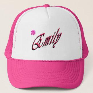 Boné Emily, nome, logotipo,