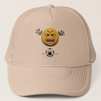 Boné Emoticon amarelo ou smiley do futebol