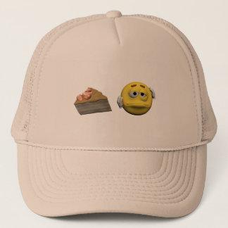 Boné Emoticon doente amarelo ou smiley