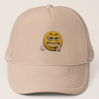 Boné Emoticon irritado amarelo ou smiley