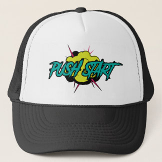 Boné Empurre o chapéu do camionista do começo