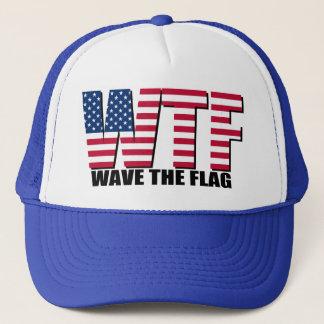 Boné Engraçado 4o julho, onda de WTF a bandeira