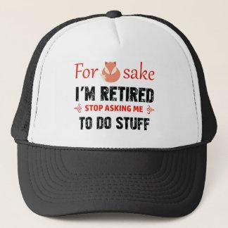 Boné Engraçado eu sou design aposentado
