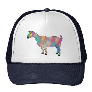 Boné engraçado psicadélico colorido da cabra