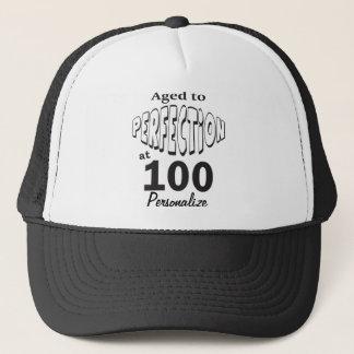 Boné Envelhecido à perfeição 100 no 100th nome do