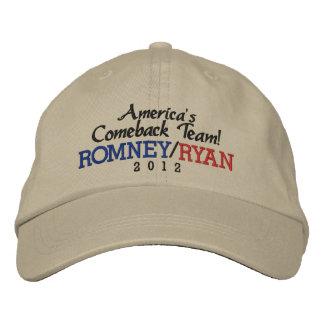 Boné Equipe Romney do retorno de América/boné de Ryan