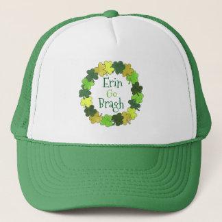 Boné Erin vai chapéu verde do trevo de Bragh Ireland