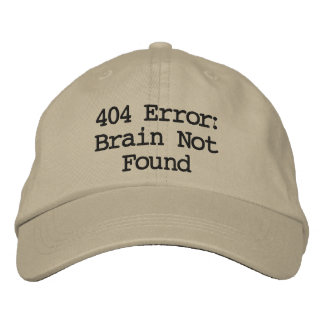 Boné Erro 404: Cérebro não encontrado